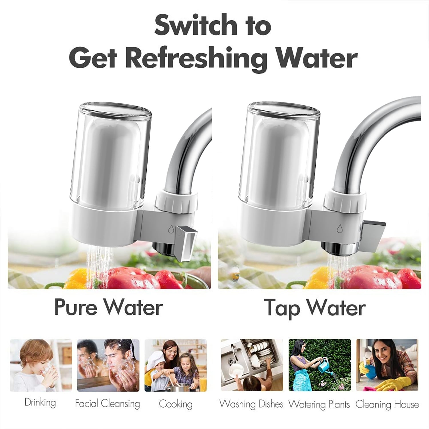 Kitchen Faucet Purifier Element for Home Nannday Water Tap Replacement Filters