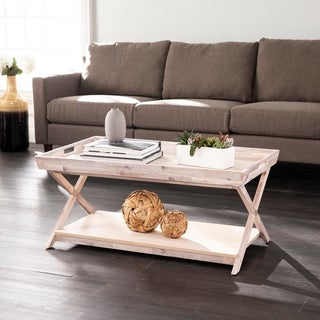 Link to The Gray Barn Brina Coastal White Wood Cocktail Table Similar Items in Living Room Furniture