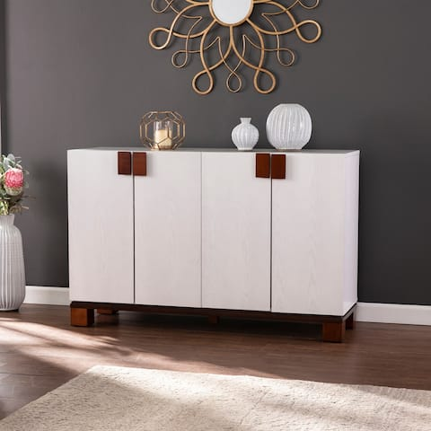 Strick & Bolton Sorrington White 4-Door Storage Cabinet