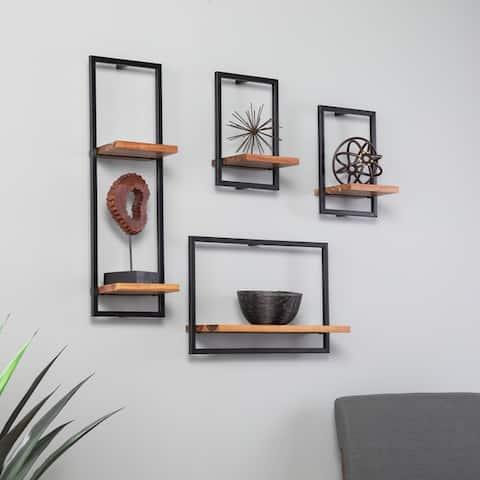 Holly & Martin Hezlyn Wall Shelf Set (Set of 4)