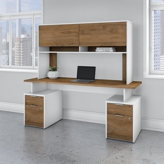 Jamestown 72W Desk with 4 Drawers and Hutch by Bush Business Furniture