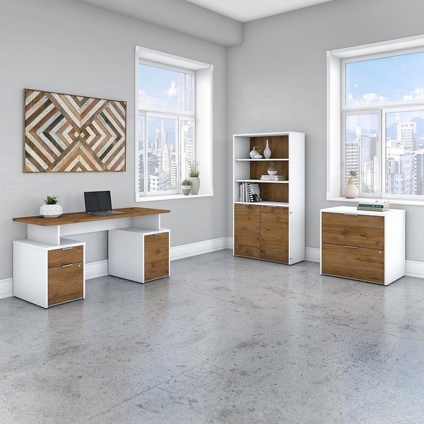 Jamestown 60W Desk, File Cabinet & Bookcase by Bush Business Furniture