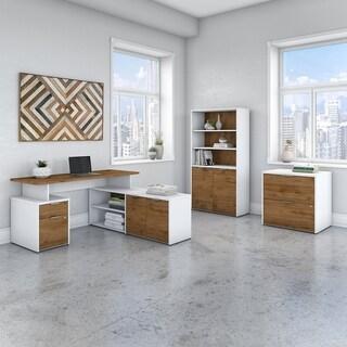 Jamestown 60W L Shaped Desk with Storage by Bush Business Furniture