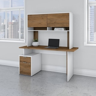 Jamestown 60W Desk with 2 Drawers and Hutch by Bush Business Furniture