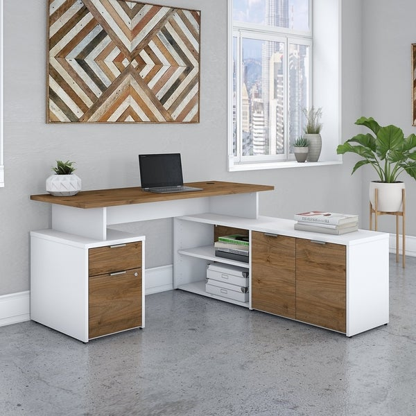 Jamestown 60W L Shaped Desk with Drawers by Bush Business Furniture