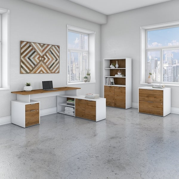 Jamestown 72W L Shaped Desk with Storage by Bush Business Furniture