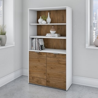 Jamestown 5 Shelf Bookcase with Doors by Bush Business Furniture