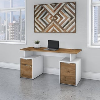 Jamestown 60W Desk with Drawers and Cabinet by Bush Business Furniture