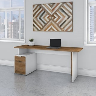 Jamestown 72W Desk with 2 Drawers by Bush Business Furniture