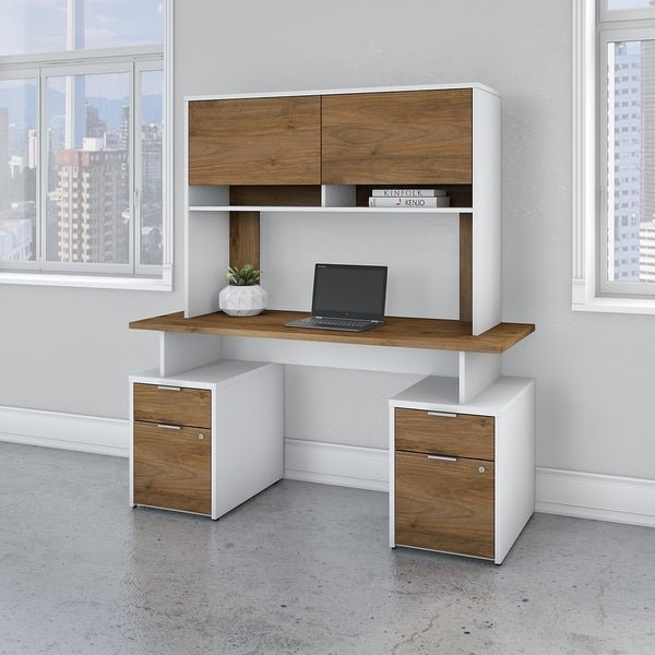 Jamestown 60W Desk with 4 Drawers and Hutch by Bush Business Furniture
