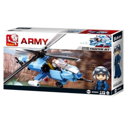 Army Aircraft Fighter Jet Building Blocks 129 Pcs set Building Toy