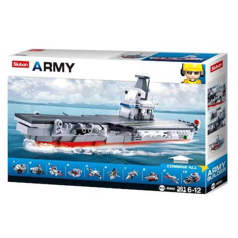 SlubanKids Army Aircraft Building Blocks 361 Pcs set Building Toy 10 in 1 Army Fighter Jet