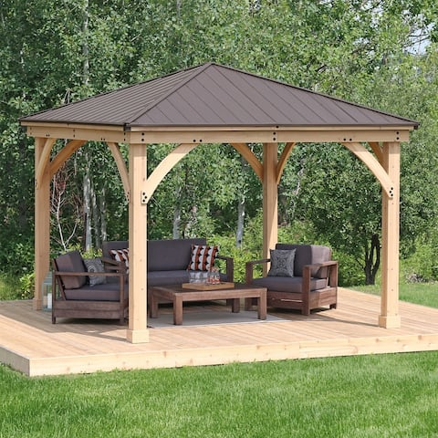 12 x 12 Meridian Gazebo with Aluminum Roof