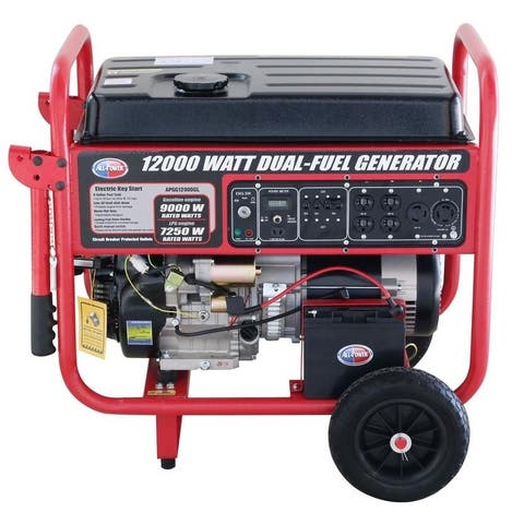 12,000-Watt Dual Fuel Propane and Gasoline Powered Electric Start Portable Generator