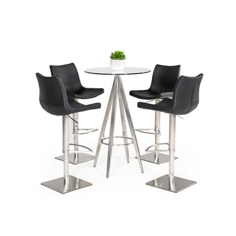 Modrest Dallas Modern Silver Bar Table