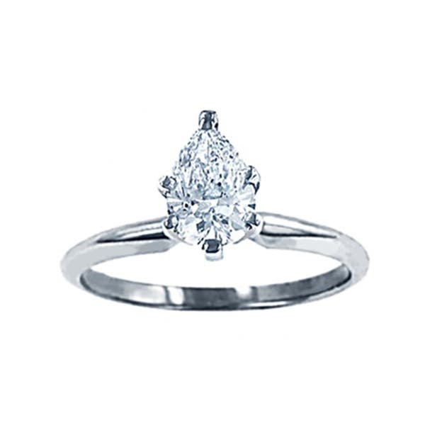 Shop Classicdiamondhouse Women S 0 9 Ct Pear Cut Diamond Wedding