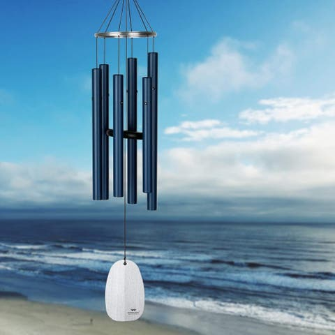Woodstock Chimes BPMPB Bells of Paradise,Pacific Blue,Med 32 inches