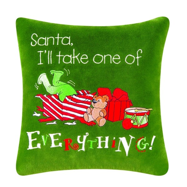 Everything Embroidered Pillow