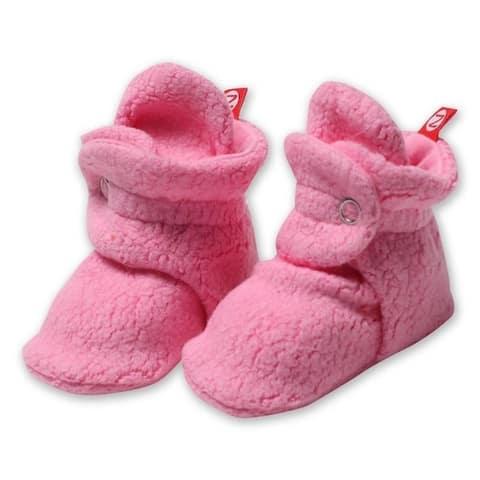 Zutano Hot Pink Cozie Fleece Booties 3M 6M 9M 12M 18M Baby Socks