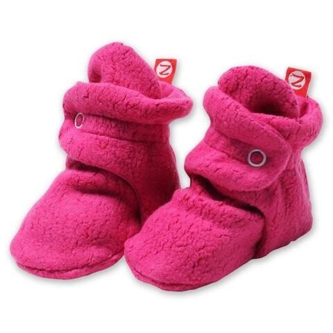 Zutano Fuchsia Cozie Fleece Booties 3M 6M 9M 12M 18M Baby Socks
