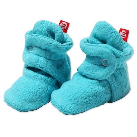 Zutano Turquoise Cozie Fleece Booties 3M 6M 9M 12M 18M Baby Socks