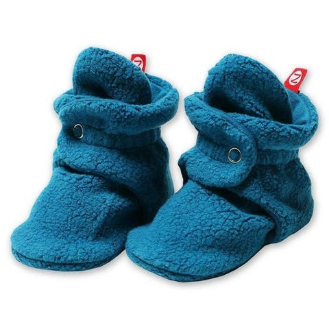 Zutano Dark Blue Cozie Fleece Booties 3M 6M 9M 12M 18M Baby Socks