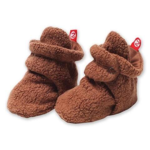 Zutano Brown Cozie Fleece Booties 3M 6M 9M 12M 18M Baby Socks