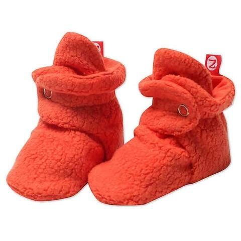 Zutano Orange Cozie Fleece Booties 3M 6M 9M 12M 18M Baby Socks
