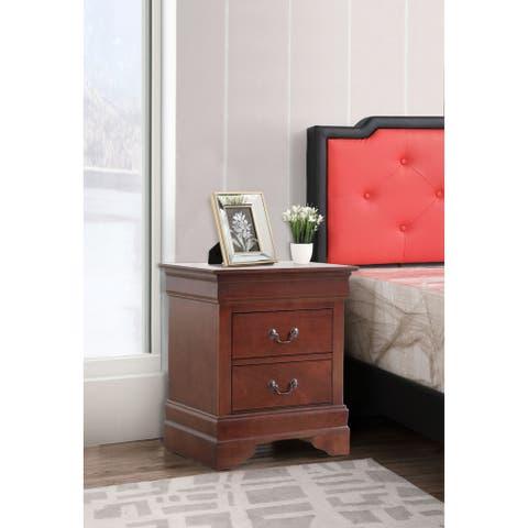 Louis Phillipe 2-drawer Nightstand