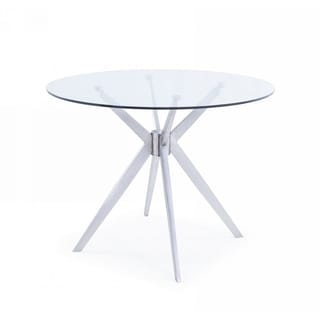 Modrest Dallas Modern Brushed Stainless Steel Dining Table