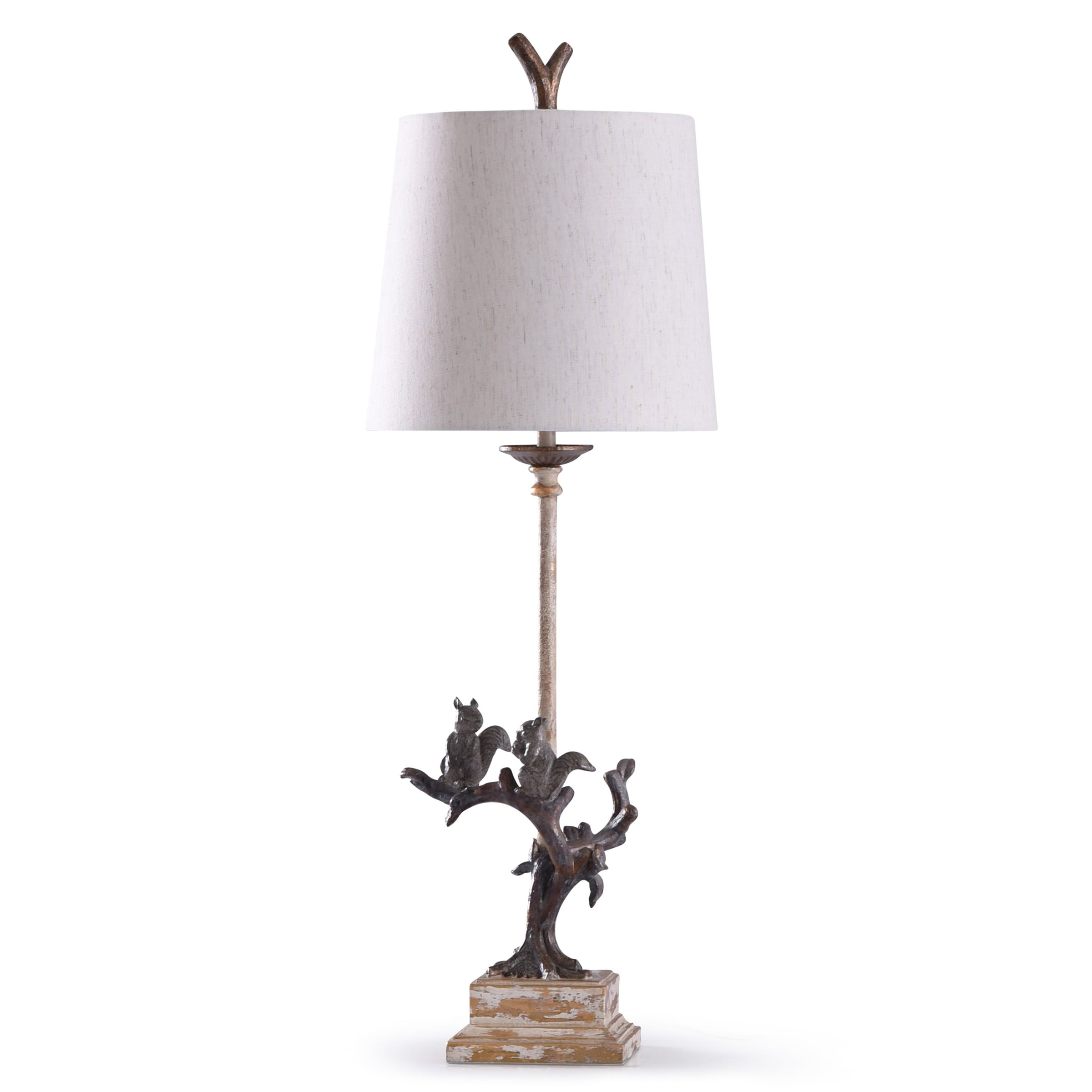 Shop Oakbury Weathered Brown Woodland Squirrel Buffet Lamp With
