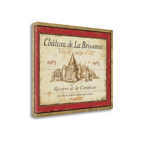"""""""French Wine Label I"""" by Daphne Brissonnet, Giclee Print on Gallery Wrap Canvas"""