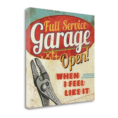 """""""Mancave I - Full Service Garage"""" by Pela Studio, Giclee on Gallery Wrap Canvas"""