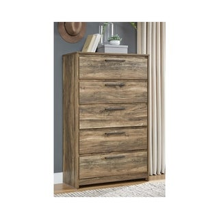 Rusthaven Rustic Brown Five Drawer Chest
