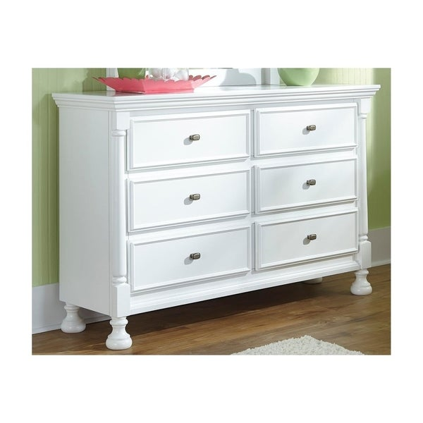 Kaslyn White Cottage Styling 6-Drawer Dresser