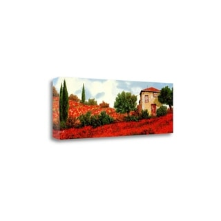 """I Papaveri Sulle Colline"" By Guido Borelli, Giclee Print on Gallery Wrap Canvas"