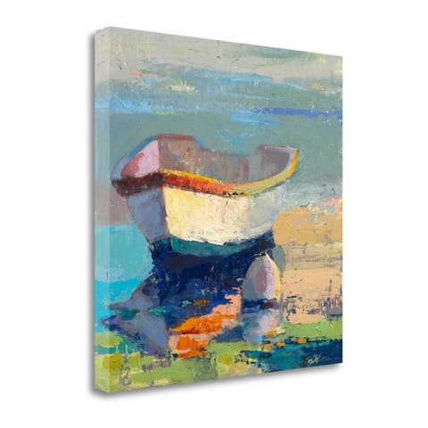 """""""Bottle Green Boat"""" by Beth A. Forst, Fine Art Giclee Print on Gallery Wrap Canvas, Ready to Hang"""