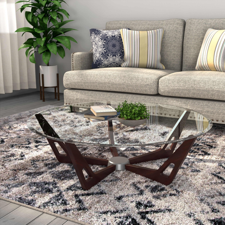 - Shop Furniture Of America Melano Contemporary Round Glass Top