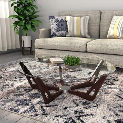 Furniture of America Melano Contemporary Round 43-inch Coffee Table