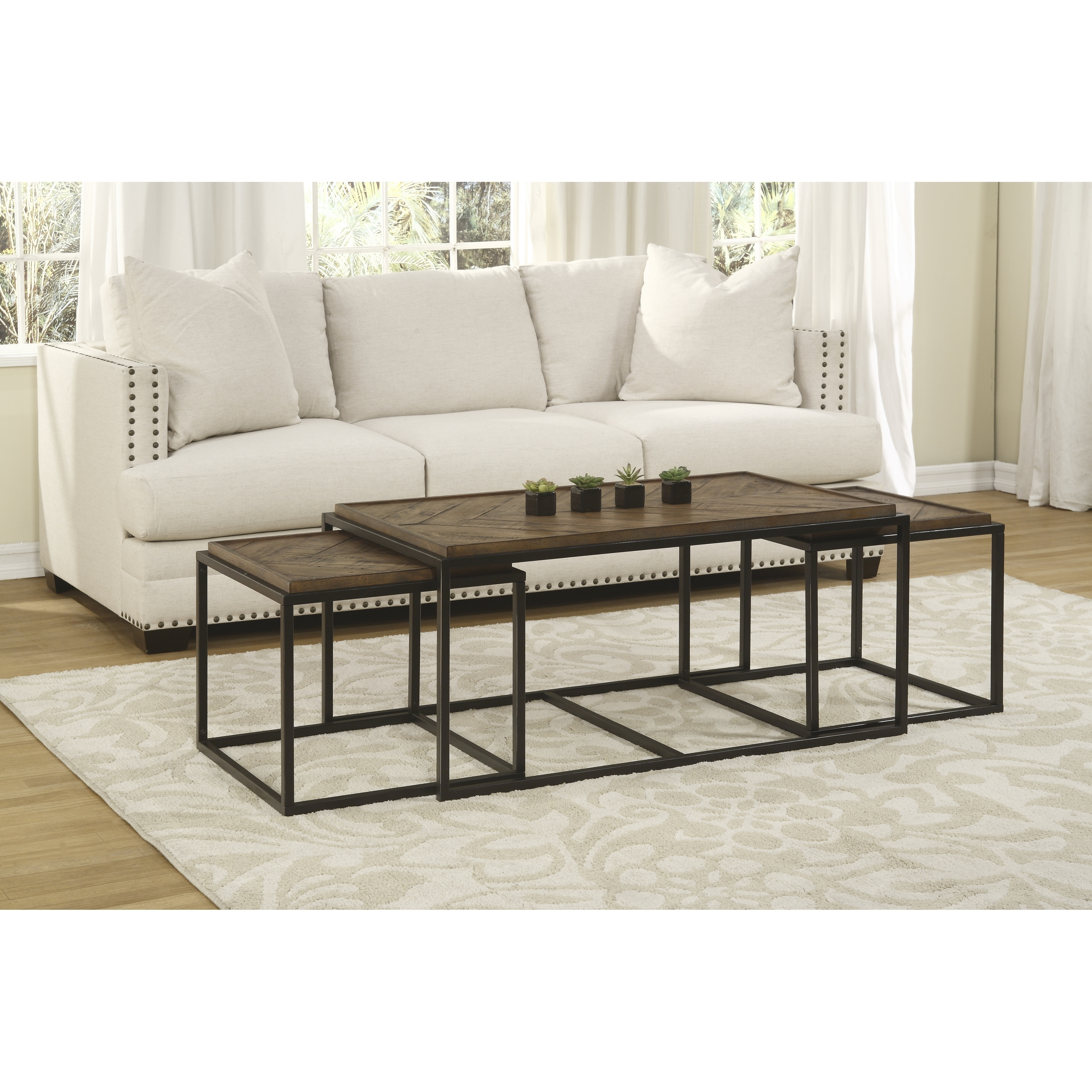Picture of: Martin Svensson Home Huntington Nesting Coffee And End Table Set Overstock 30304997