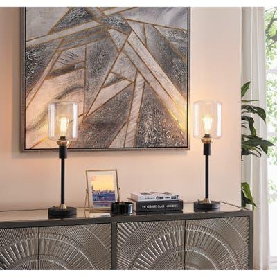 Carbon Loft Bohman Two-tone Table Lamp Set