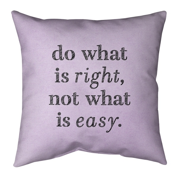 Quotes Handwritten Do What is Right Quote Pillow-Faux Linen