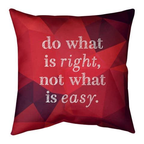 Quotes Faux Gemstone Do What is Right Quote Floor Pillow - Standard