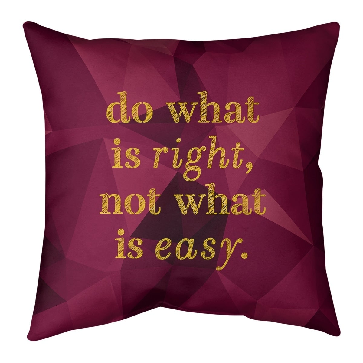 Quotes Faux Gemstone Do What Is Right Quote Pillow Faux Suede Overstock 30306164