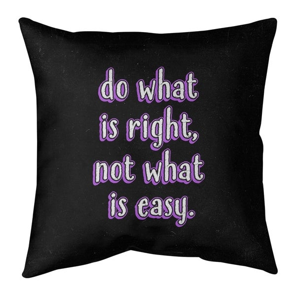 Quotes Do What is Right Quote Chalkboard Style Floor Pillow - Standard