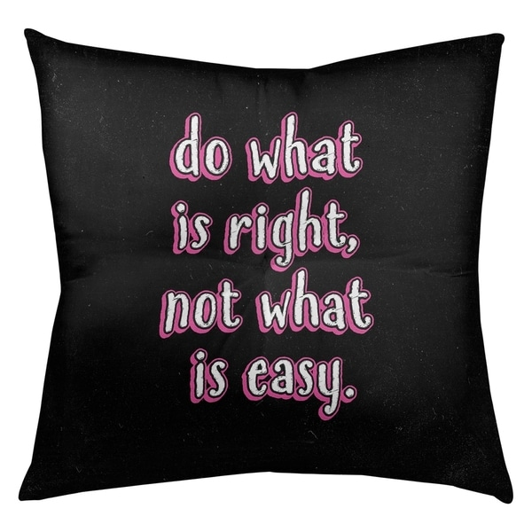 Quotes Do What is Right Quote Chalkboard Style Floor Pillow - Square Tufted