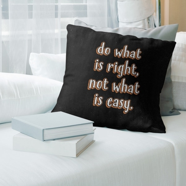 Quotes Do What is Right Quote Chalkboard Style Pillow-Faux Linen