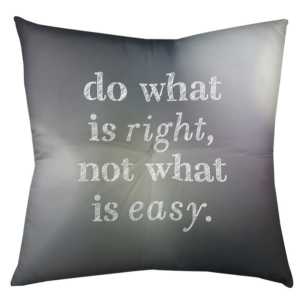 Quotes Multicolor Background Do What is Right Quote Floor Pillow - Square Tufted