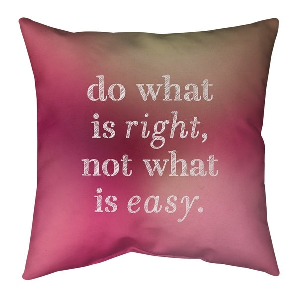 Quotes Multicolor Background Do What is Right Quote Pillow (w/Rmv Insert)-Spun Poly