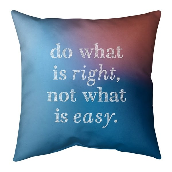 Quotes Multicolor Background Do What is Right Quote Pillow-Spun Polyester